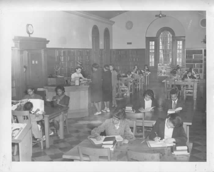 Adult reading room. Image sourced from the following webpage: https://durhamcountylibrary.org/exhibits/slw/archive.php