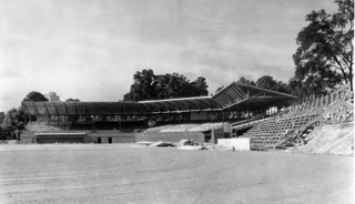 This picture shows the original ball park before it was renamed to the Durham Athletic Park. Circa 1930. Photo courtesy of Duke Rare Books and Manuscript Collection and Open Durham.com.