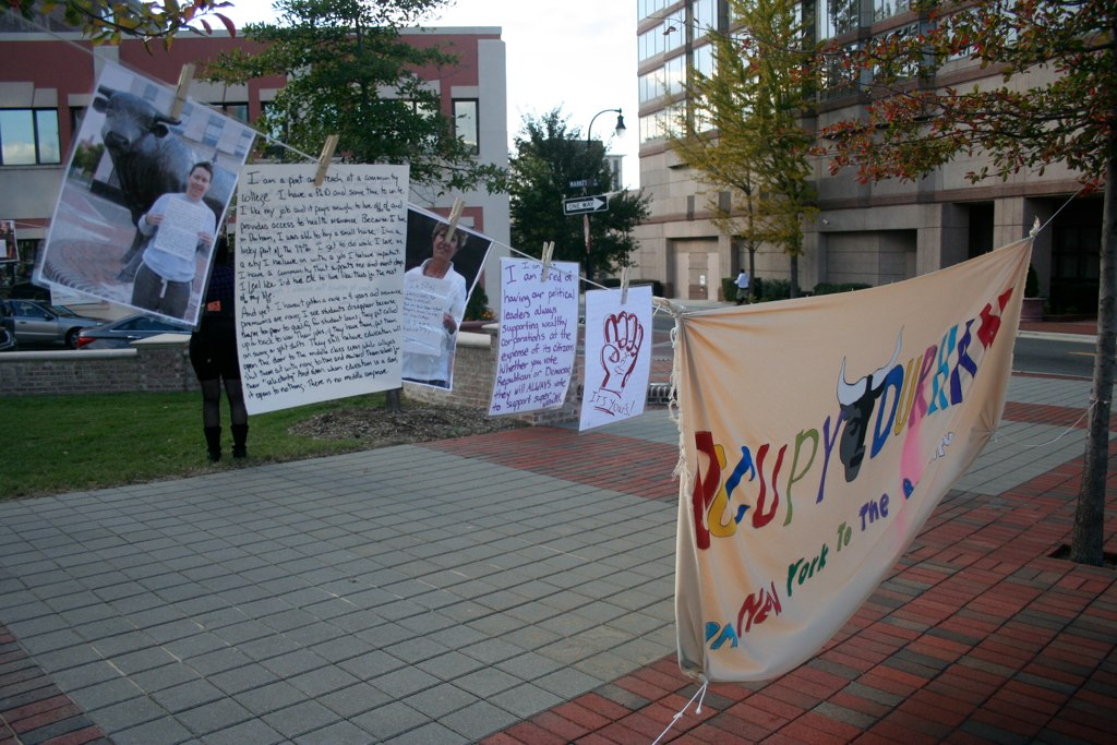 Art Installation as part of Occupy Durham