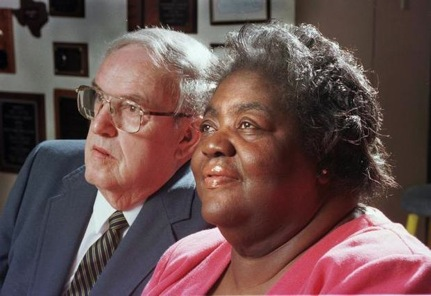 Ann and CP in 1996, still close friends. Image courtesy of the Durham Herald Sun